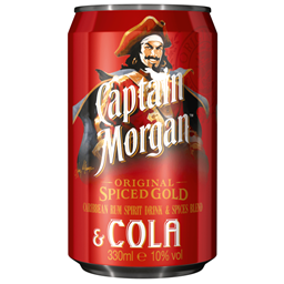 Bild von Captain Morgan Original Spiced Gold & Cola 10%  0,33L